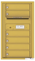 Florence 4C Mailboxes 4C08S-06 Gold Speck