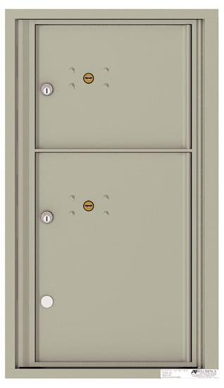 4C08S-2P Front Loading Commercial Surface Mount 4C Parcel Lockers – 2 Parcel Lockers Product Image