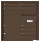 Florence 4C Mailboxes 4C09D-10 Antique Bronze