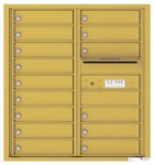 Florence 4C Mailboxes 4C09D-15 Gold Speck