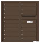 Florence 4C Mailboxes 4C09D-16 Antique Bronze