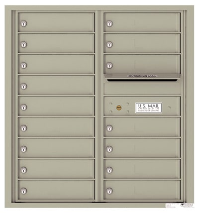 4C09D-16 Front Loading Commercial Surface Mount 4C Mailboxes – 16 Tenant Doors Product Image