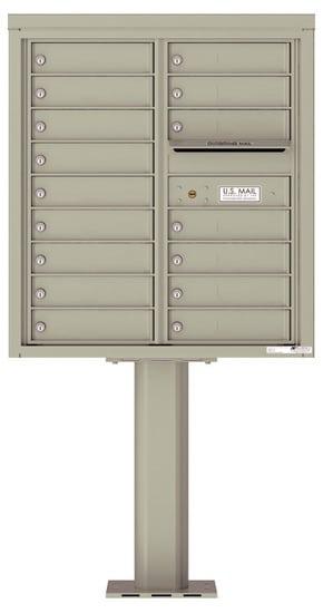 4C09D-16-P Commercial 4C Pedestal Mailboxes – 16 Tenant Doors Product Image