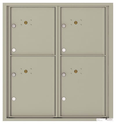 4C09D-4P Front Loading Commercial Surface Mount 4C Parcel Lockers – 4 Parcel Lockers Product Image