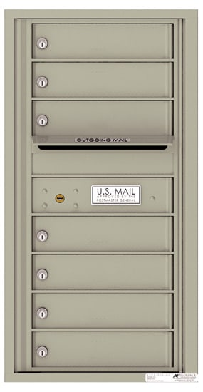 4C09S07 4C Horizontal Commercial Mailboxes