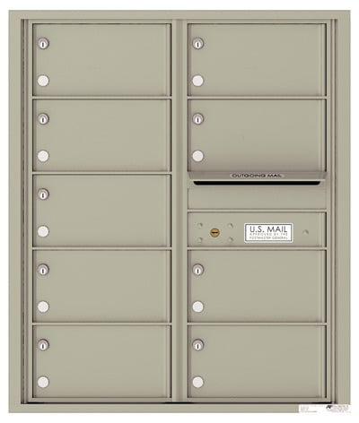 4C10D-09 Front Loading Private Use Commercial 4C Mailboxes – 9 Tenant Doors Product Image