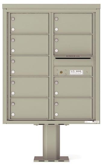 4C10D-09-P Commercial 4C Pedestal Mailboxes – 9 Tenant Doors Product Image
