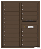 Florence 4C Mailboxes 4C10D-18 Antique Bronze