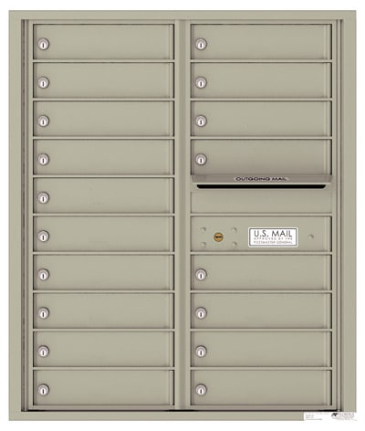 4C10D-18 Front Loading Commercial Surface Mount 4C Mailboxes – 18 Tenant Doors Product Image