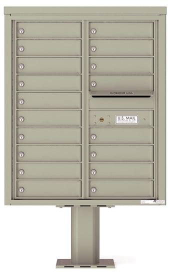 4C10D-18-P Commercial 4C Pedestal Mailboxes – 18 Tenant Doors Product Image