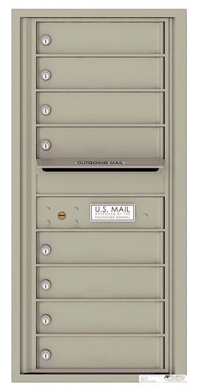 4C10S-08 Front Loading Private Use Commercial 4C Mailboxes – 8 Tenant Doors Product Image