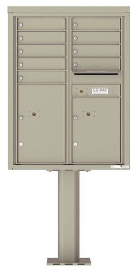 4C11D-09-P Commercial 4C Pedestal Mailboxes – 9 Tenant Doors 2 Parcel Lockers Product Image