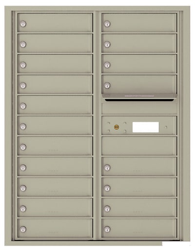 4C11D-19 Front Loading Commercial 4C Mailboxes – 19 Tenant Doors Product Image