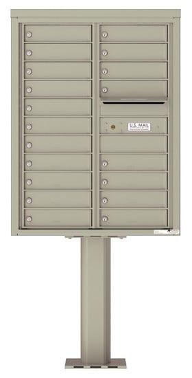 4C11D-19-P Commercial 4C Pedestal Mailboxes – 19 Tenant Doors Product Image