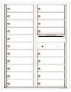 Florence 4C Mailboxes 4C11D-20 White