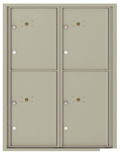 4C11D-4P Front Loading Commercial Surface Mount 4C Parcel Lockers – 4 Parcel Lockers Product Image