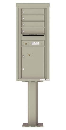 4C11S-04-P Commercial 4C Pedestal Mailboxes – 4 Tenant Doors 1 Parcel Locker Product Image