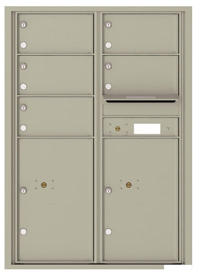 4C12D-05 Front Loading Commercial 4C Mailboxes – 5 Tenant Doors 2 Parcel Lockers Product Image