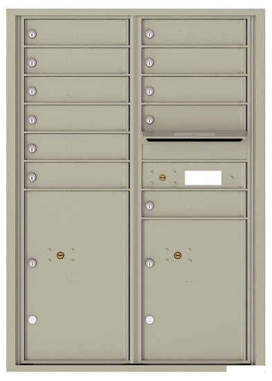 4C12D-11 Front Loading Commercial Surface Mount 4C Mailboxes – 11 Tenant Doors 2 Parcel Lockers Product Image