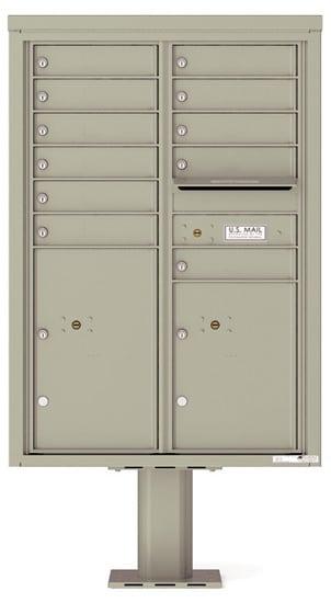 4C12D-11-P Commercial 4C Pedestal Mailboxes – 11 Tenant Doors 2 Parcel Lockers Product Image