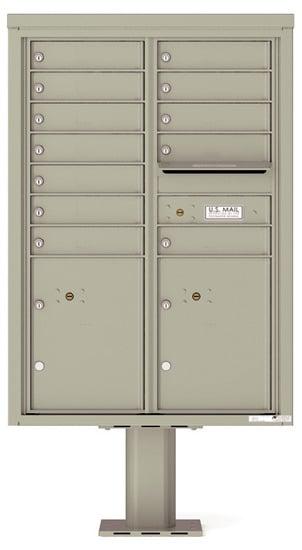 4C12D-12-P Commercial 4C Pedestal Mailboxes – 12 Tenant Doors 2 Parcel Lockers Product Image