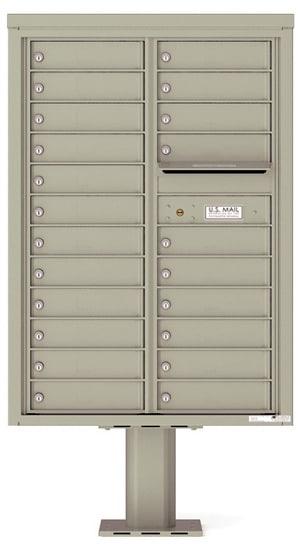 4C12D-22-P Commercial 4C Pedestal Mailboxes – 22 Tenant Doors Product Image