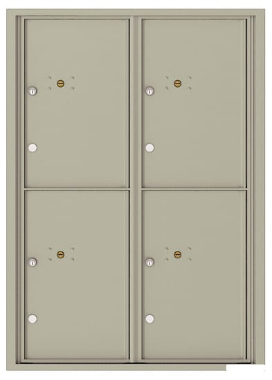 4C12D-4P Front Loading Commercial Surface Mount 4C Parcel Lockers – 4 Parcel Lockers Product Image