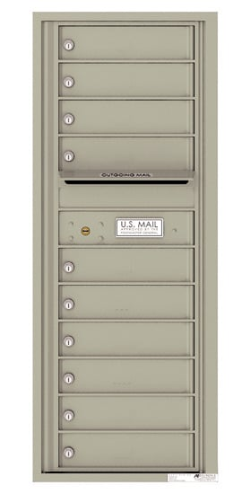 4C12S-10 Front Loading Commercial Surface Mount 4C Mailboxes – 10 Tenant Doors Product Image