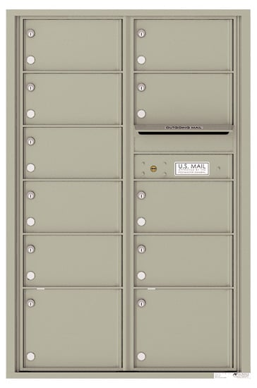 4C13D-11 Front Loading Commercial Surface Mount 4C Mailboxes – 11 Tenant Doors Product Image