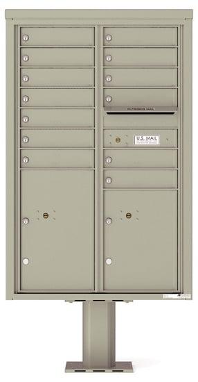 4C13D-13-P Commercial 4C Pedestal Mailboxes – 13 Tenant Doors 2 Parcel Lockers Product Image