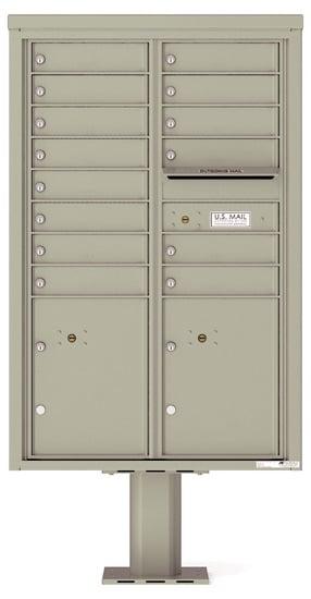 4C13D-14-P Commercial 4C Pedestal Mailboxes – 14 Tenant Doors 2 Parcel Lockers Product Image