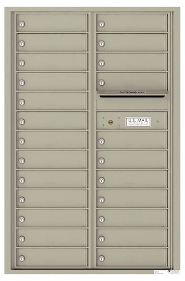 4C13D-24 Front Loading Commercial Surface Mount 4C Mailboxes – 24 Tenant Doors Product Image