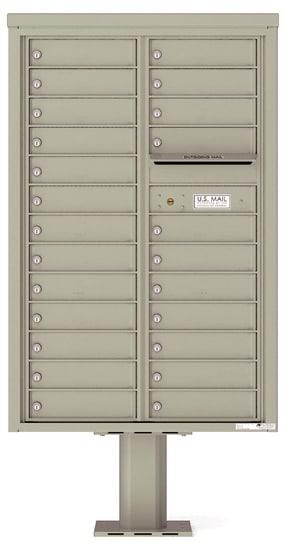 4C13D-24-P Commercial 4C Pedestal Mailboxes – 24 Tenant Doors Product Image