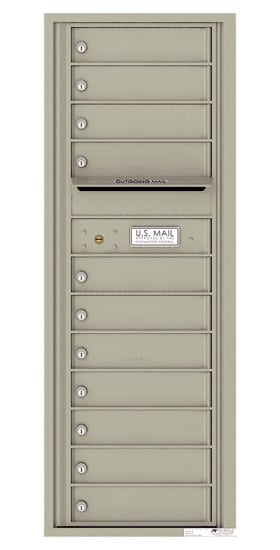 4C13S-11 Front Loading Commercial Surface Mount 4C Mailboxes – 11 Tenant Doors Product Image