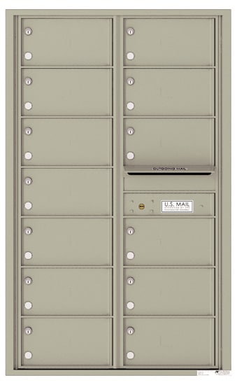 4C14D-13 Front Loading Commercial Surface Mount 4C Mailboxes – 13 Tenant Doors Product Image