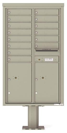 4C14D-14-P Commercial 4C Pedestal Mailboxes – 14 Tenant Doors 2 Parcel Lockers Product Image
