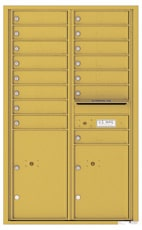 Florence 4C Mailboxes 4C14D-15 Gold Speck
