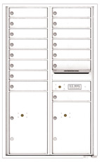 Florence 4C Mailboxes 4C14D-15 White