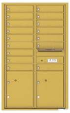 Florence 4C Mailboxes 4C14D-16 Gold Speck