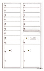 Florence 4C Mailboxes 4C14D-16 White