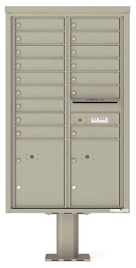 4C14D-16-P Commercial 4C Pedestal Mailboxes – 16 Tenant Doors 2 Parcel Lockers Product Image
