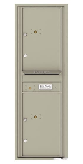 4C14S-2P Front Loading Commercial Surface Mount 4C Parcel Lockers – 2 Parcel Lockers Product Image