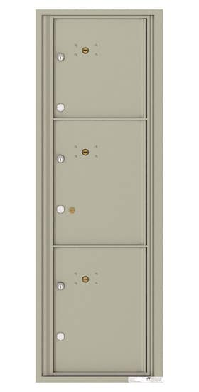 4C14S-3P Front Loading Commercial Surface Mount 4C Parcel Lockers – 3 Parcel Lockers Product Image