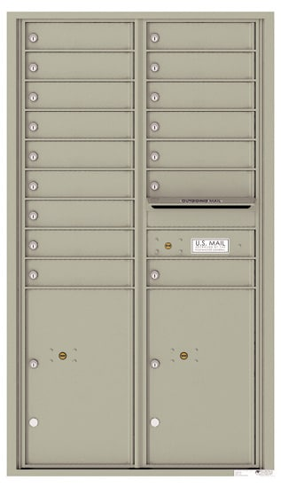 4C15D-16 Front Loading Private Use Commercial 4C Mailboxes – 16 Tenant Doors 2 Parcel Lockers Product Image