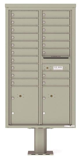 4C15D-18-P Commercial 4C Pedestal Mailboxes – 18 Tenant Doors 2 Parcel Lockers Product Image