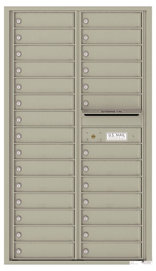 4C15D-28 Front Loading Commercial Surface Mount 4C Mailboxes – 28 Tenant Doors Product Image