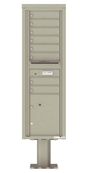 4C15S-08-P Commercial 4C Pedestal Mailboxes – 8 Tenant Doors 1 Parcel Locker Product Image