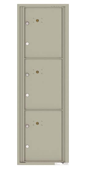 4C15S-3P Front Loading Commercial Surface Mount 4C Parcel Lockers – 3 Parcel Lockers Product Image