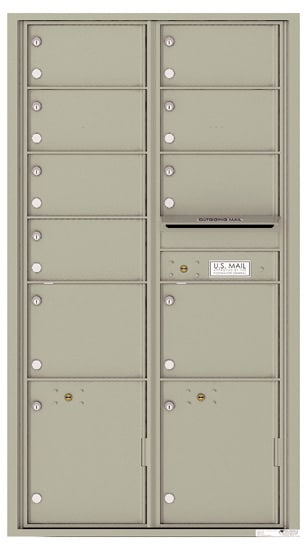 4C16D-09 Front Loading Private Use Commercial 4C Mailboxes Product Image