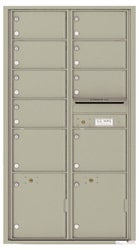 Florence 4C Mailboxes 4C16D-09 Postal Grey
